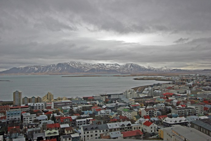 View of Reykjavik from the church's observation deck