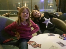 Caroline and Fiona with their Top Trumps
