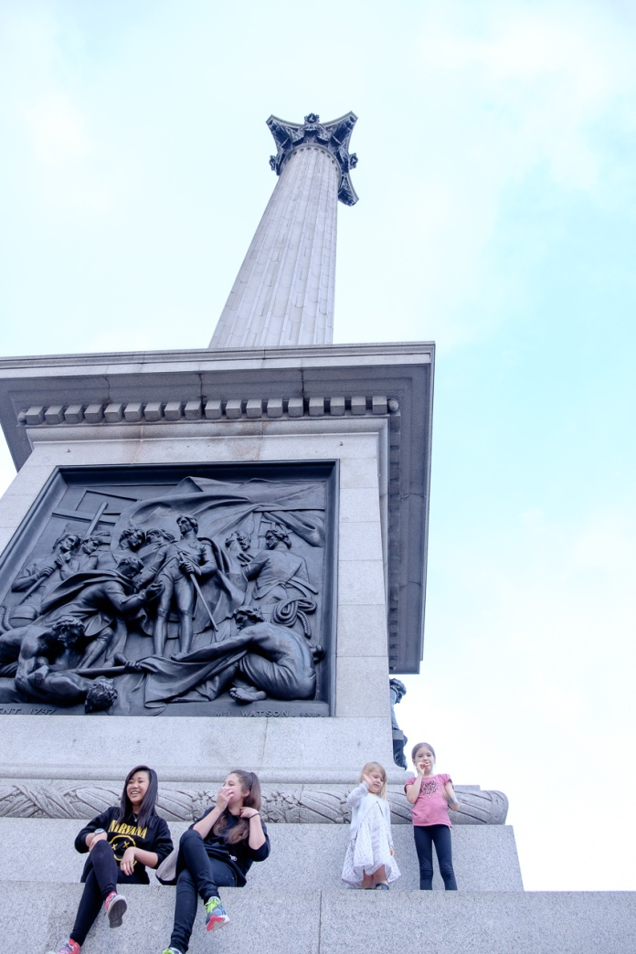 Caroline and Fiona at Nelson's Column