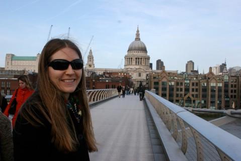 Millenium Bridge with St. Paul's in the Background