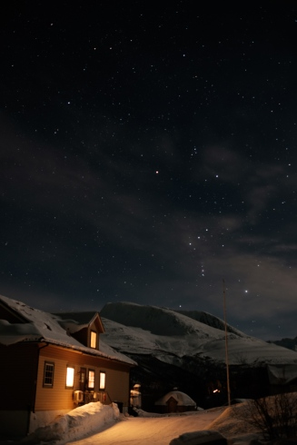 Orion in the night sky
